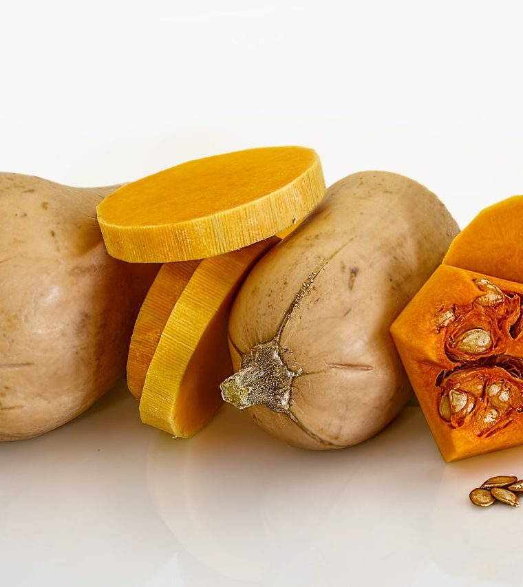Roasted squash and pea risotto