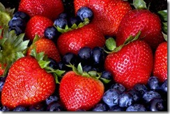 stawberries and blueberries