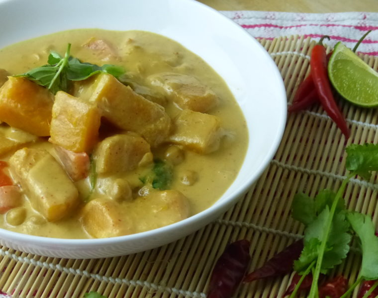 Thai style squash and chickpea curry